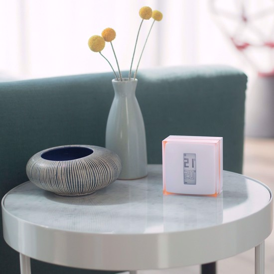 The thermostat can be placed on any surface convenient for your needs.