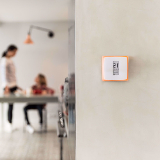 The thermostat can also be mounted to a wall so it's at a convenient viewing height.